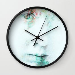 Silent Blue Wall Clock