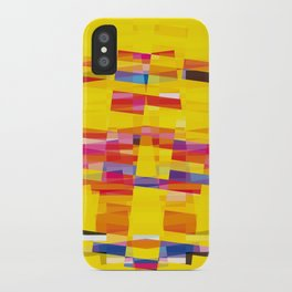 yellow pixel storm iPhone Case