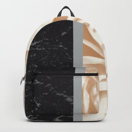 Cafe Au Lait Flower Meets Gray Black Marble #5 #decor #art #society6 Backpack