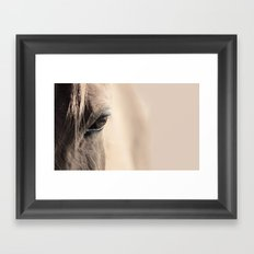 horses eye Framed Art Print