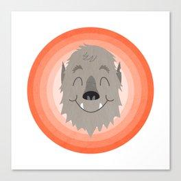 Wally the Happy Werewolf Canvas Print