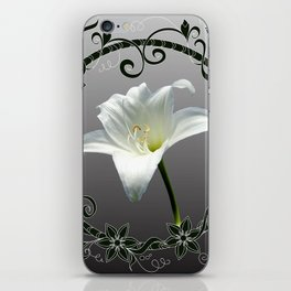 white amaryllis iPhone Skin