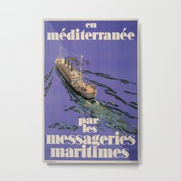 en mediterranee Vintage Travel Poster Metal Print