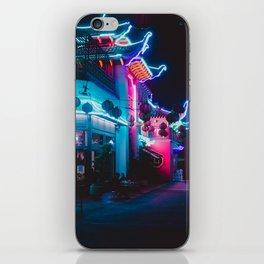 Neon Building iPhone Skin