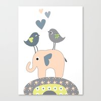nursery Canvas Prints featuring Nursery Prints by Dani Jay
