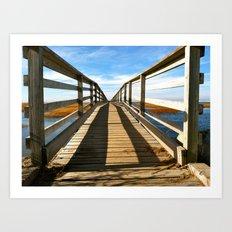 Cross the Bridge Art Print