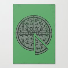 Slice of sewer life Canvas Print