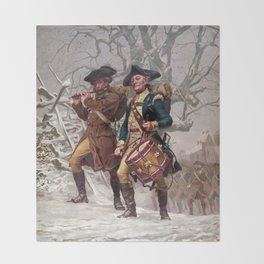 Revolutionary War Soldiers Marching Throw Blanket