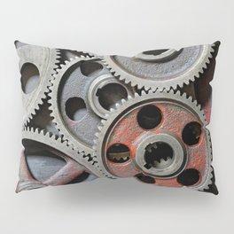 Group of old steel cogwheels Pillow Sham
