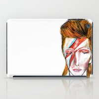 bowie iPad Cases featuring Bowie by James Peart