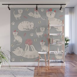 HAPPY CATS Wall Mural