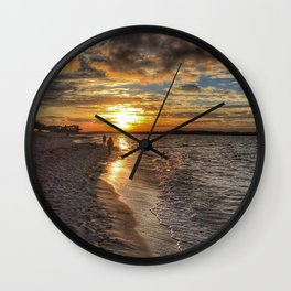 Sunbathing in the Winter time Wall Clock