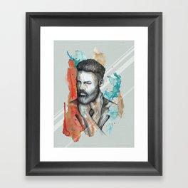 Raphael by carographic, Carolyn Mielke Framed Art Print
