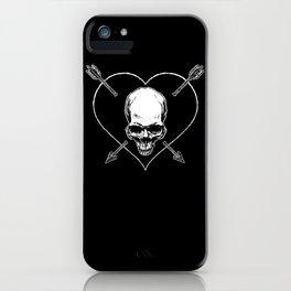 Eros & Thanatos (Jolly Roger Black Flag) iPhone Case