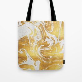 White Dragon Marble Tote Bag