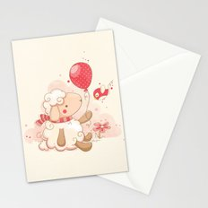 Sheep & Balloon Stationery Cards