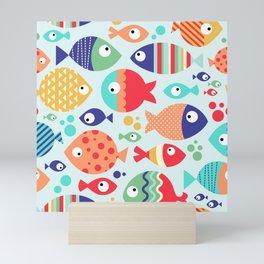 Swimming with the fish Mini Art Print