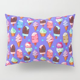 Popsicles and Ice Cream - Purple Pillow Sham