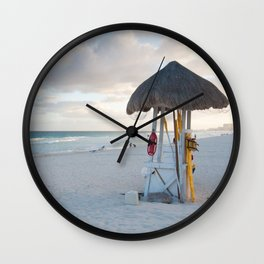 No Lifeguard Here Wall Clock