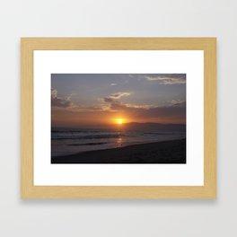 Sunset at Point Dume Framed Art Print