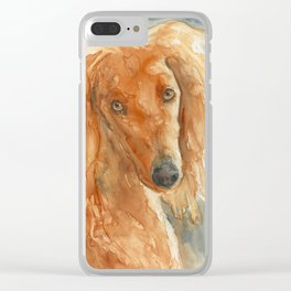 Sully the Saluki Clear iPhone Case