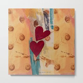 Two Hearts as One Metal Print
