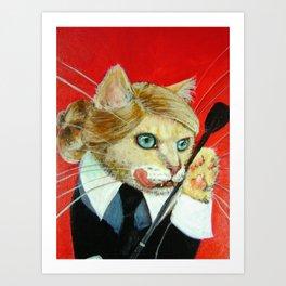 Dita, A Highly Professional (Dominatrix) Business Cat Art Print