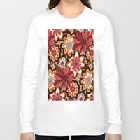 flower pattern Long Sleeve T-shirts featuring Flower Pattern by Eduardo Doreni