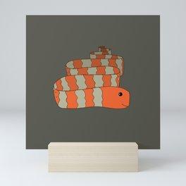 Orange Striped Snake Mini Art Print