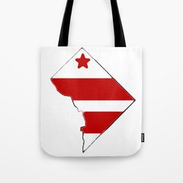 Washington DC District of Columbia Map with Flag Tote Bag