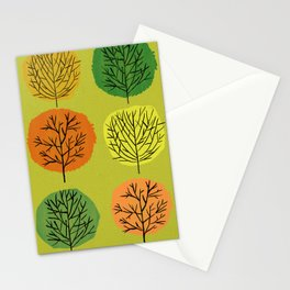Tidy Trees All In Pretty Rows Stationery Cards