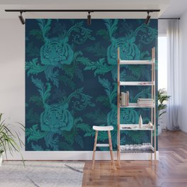 Tiger Greenery Wall Mural