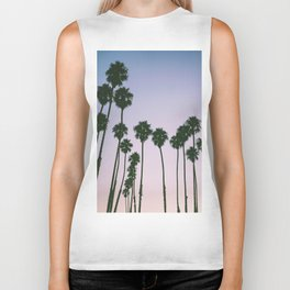 Palm Trees Sunset Biker Tank