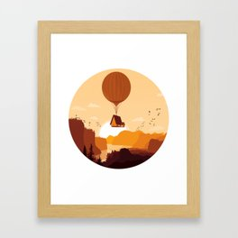 Flying House Framed Art Print