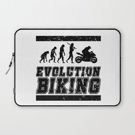 Evolution Biking   Motorcycle Street Speed Laptop Sleeve