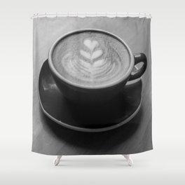 Cappuccino Heart Shower Curtain