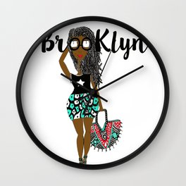 Earthling with dreads has Brooklyn Glasses Wall Clock