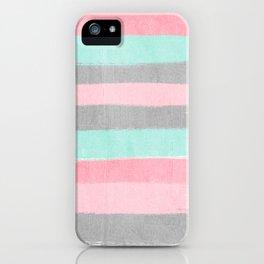 Martine - brushstrokes abstract minimal modern art print dorm college nursery gender neutral iPhone Case