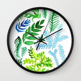 Blue Corals Wall Clock
