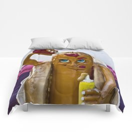 Hot Dog Dressing Up Comforters