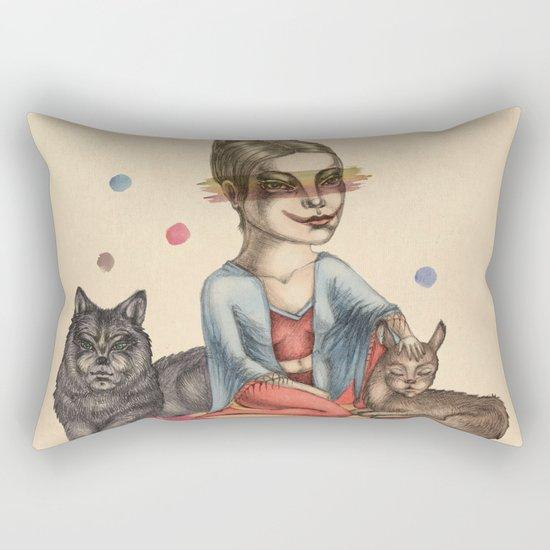 My little circus Rectangular Pillow