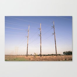 Powerlines Canvas Print