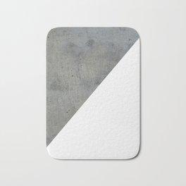 Geometrical Color Block Diagonal Concrete Vs White Bath Mat