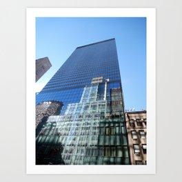 Looking up on 42nd Street Art Print