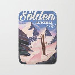 Sölden Austria vintage ski poster Bath Mat