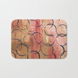 Abstract Circles Painting Bath Mat