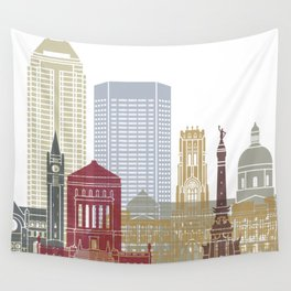 Indianapolis skyline poster Wall Tapestry