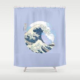 Great Wave Eruption Shower Curtain