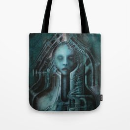 Bullet acryl on canvas 100 x 80 cm Tote Bag