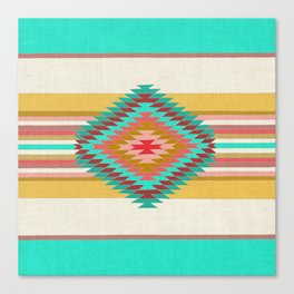 FIESTA (teal) Canvas Print